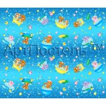 """Вафельное полотно """"Водные забавы"""", ширина 150 см"""