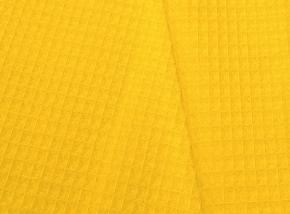 15с169/150 полотно вафельное гл/кр крупная клентка 7*7 мм   230г/м2 желтый, 150см
