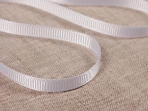 Лента репсовая шир.6мм, белый (рул.90м)