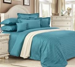 3381W КПБ 2-х спальный сатин-страйп с европростыней Морская нимфа