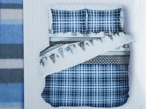 """4531-БЧ 2 спальный комплект фланель """"Хюгге"""" рис.5205-03 цв. голубой"""