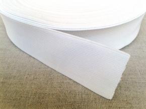 Резинка ткацкая 40мм, белая (рул.20м)