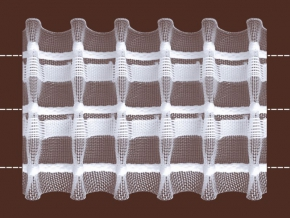 59мм. 05С3275ПЭ-Г50 ЛЕНТА ДЛЯ ШТОР белый 59мм, параллельная (рул.50м)