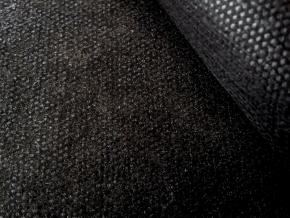 512-0030-090-508-90 Флизелин клеевой 30гр/м.кв. сплошное покр., черный, ш.90см (рул.100м)