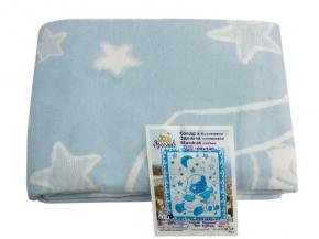 Одеяло хлопковое 100*140 жаккард  21/10 цвет голубой