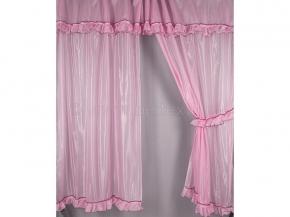 6С48-Г10 комплект штор (200*150)-2 + ламбрекен 50*300 цв. розовый