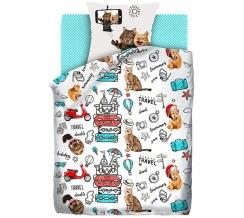 """КПБ 1.5 поплин """"4 YOU"""" Fun&Cute (70х70) рис. 16075-1/16076-1/8672-5 Funny cats"""