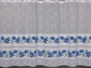 0.85м Е45Пр 08С6271-Г50 ПОЛОТНО ГАРДИННОЕ цвн 0.85м(синий цветок)