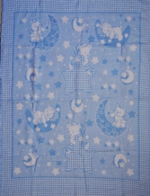 Одеяло хлопковое 90*100 жаккард 20/2 цвет голубой