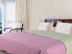 """Покрывало Amore Mio WX PI 1620 """"Альба"""" цвет розовый/салатовый 160*200"""