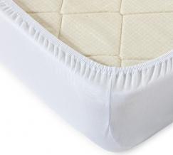 Простыня трикотажная на резинке 180*200*20 цвет белый