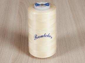 """Нитки П/Э 40/2 (5000 ярдов) """"Routsher"""" молочный*501 (1кор.*12б.)"""