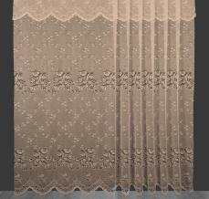 2.90м 7С3-Г10 К полотно гардинное рисунок 1128 сливочный