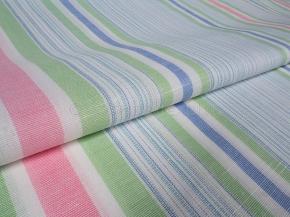Ткань бельевая арт 175102 п/лен пест. рис 5*51/5 Розовый/голубой/травяной, ширина 220см