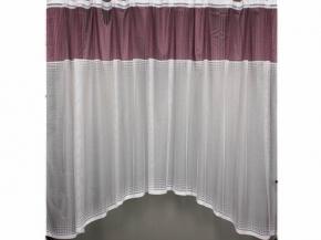 К44АМГ ЗАНАВЕСКА  3.20 м*1.60 м фиолетовый с белым