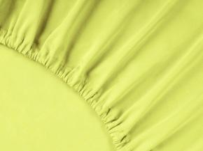 3963-БЧ простыня на резинке 200*160*25 гладкокрашеный сатин цв. салат