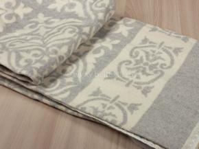 Одеяло хлопковое 170*205 жаккард  1/31  цв.серый  Орнамент