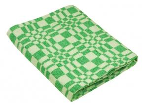 Одеяло хлопковое 170*200 клетка цвет зеленый