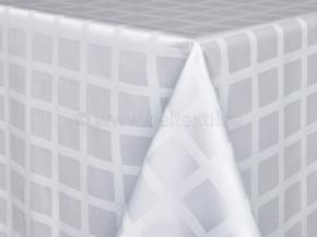 1809Б-01 Скатерть  1/010101 Клетка белый 150*180 см