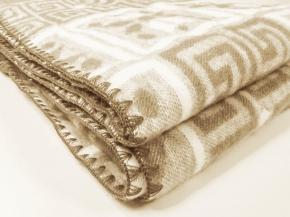 Одеяло п/шерсть 50% 170*205 жаккард цв. бежевый