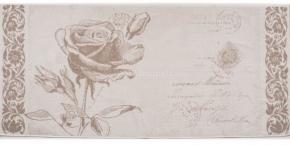 6с102.511ж2 Роза на конверте Полотенце махровое 67х150см