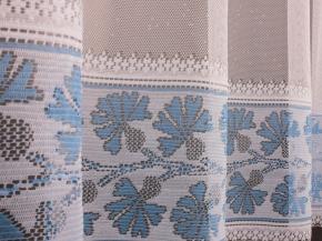 1.65м Т702А/165 ПОЛОТНО ГАРДИННОЕ белый с голубым
