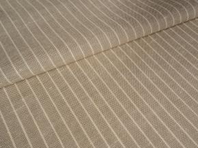 Ткань костюмная арт 06С-25ЯК п/лен пестротканый рис. Полоска белый/вар., ширина 150см