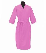 Халат вафельный женский р-р 46 цвет розовый