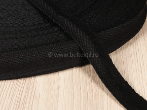 15мм. Лента киперная 15мм (3гр/м) черный (рул.50м)