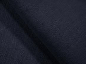 Ткань костюмная арт 176003 лен гладкокрашеный цвет Индиго 1513, ширина 150см