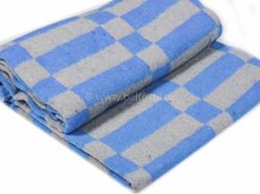 Одеяло байковое в/уп.140*205 клетка цв. синий