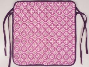 """4123 Чехол на стул  40*40  """"Орнамент"""" цв. темно-розовый"""