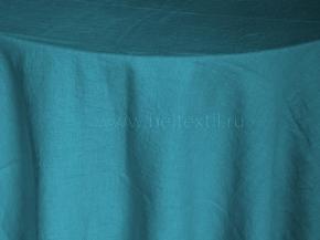 18С214-ШР/л.с.уп. Скатерть 100% лен 135*160  цв. 925 морская волна