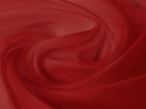 Вуаль однотонная T RS lux-119/300 красный, ширина 300см. Импорт