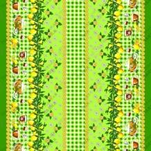 Вафельная -универсал В16 рис. 4549/2 Лимоны зеленый, ширина 150см