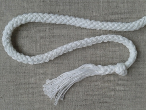 7мм. ШХ8-007-2 Шнур, D-7мм, х/б 100%, белый