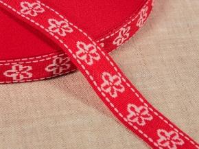06С3324-Г50 ЛЕНТА ОТДЕЛОЧНАЯ красный с белым 18мм (рул.50м)