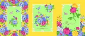 Вафельная-универсал В16 рисунок 8229/4  Астры  желтый  ширина 150см
