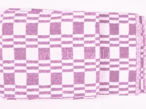 Одеяло хлопковое 100*140 клетка Колосок Люкс цвет сирень