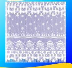 13С6518-Г50 ЗАНАВЕСКА ДЛЯ КУХНИ белый 1.70*1.70м