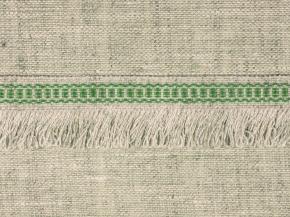 08С3524-Г50 ЛЕНТА ОТДЕЛОЧНАЯ, лён с зеленым 20мм (рул.25м)