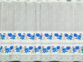 0.55м Е87 08С6270-Г50 ПОЛОТНО ГАРДИННОЕ цвн голубой цветок