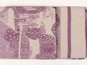 """Одеяло хлопковое 170*205 жаккард """"Деревушка"""" 12 цв. сирень"""