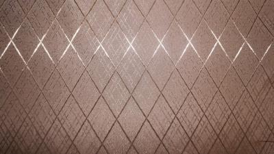 Подкладочная ткань арт. 04С9-КВгл 399/091001 Крупный ромб  коричневый РАСПРОДАЖА
