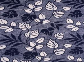 """Одеяло п/шерсть 70% 170*205 жаккард """"Листья"""" цв.синий"""