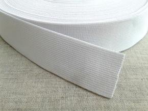 35мм. Резинка ткацкая 35мм, белая (рул.40м) арт.17с14