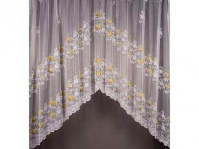 1.75м полотно гардинное Арка Gallery HX G 1002/175s/yl/gr, высота 175см/ ширина 300см купон для штор