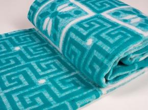 Одеяло п/шерсть 50% 140*205см Жаккард  цв.изумруд