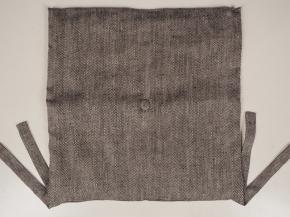 18с253-ШР Подушка для сидения декор. 40*40 цв 2 рубчик серый