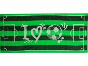 6с102.411ж1 I love football Полотенце махровое 67х150см